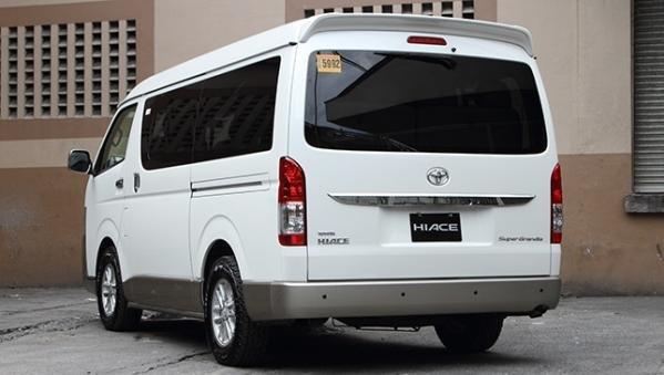 Toyota Hiace 2018 angular rear