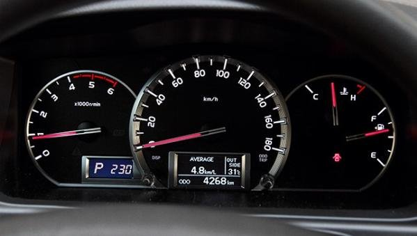 Toyota Hiace 2018 analog gauges