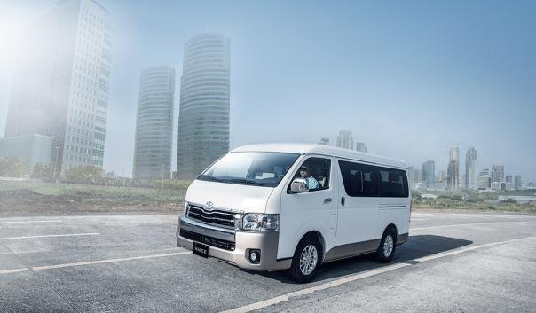 Toyota Hiace 2018 on the road