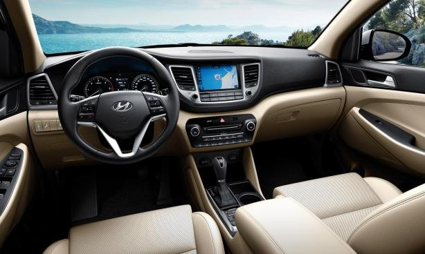2018 Hyundai Tucson Dashboard. The Infotainment System Will Keep You  Entertained And During Long Rides