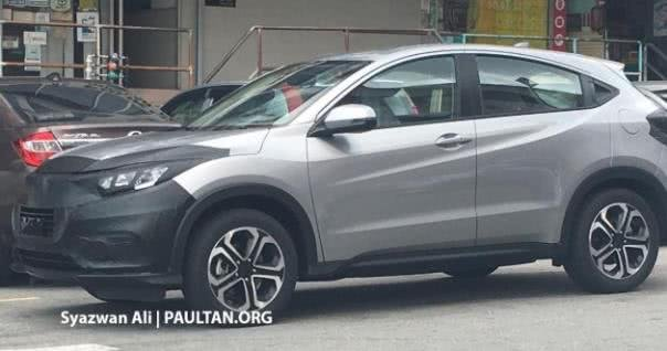 Honda HR-V 2018 facelift spotted in Malaysia