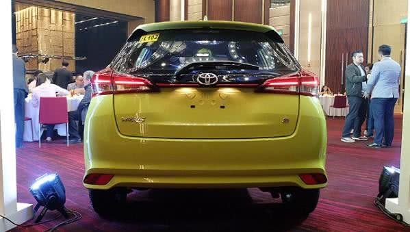 Toyota Yaris 2018 rear view