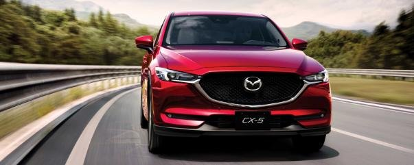 Mazda CX-5 2018 on the road