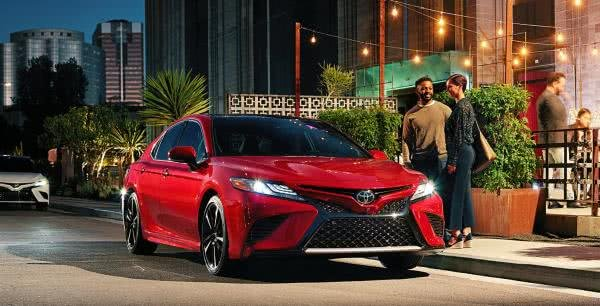 Toyota Camry 2018 on the road