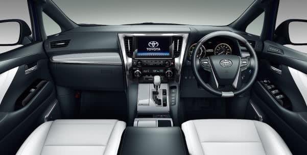 Toyota Alphard 2018 facelift dashboard