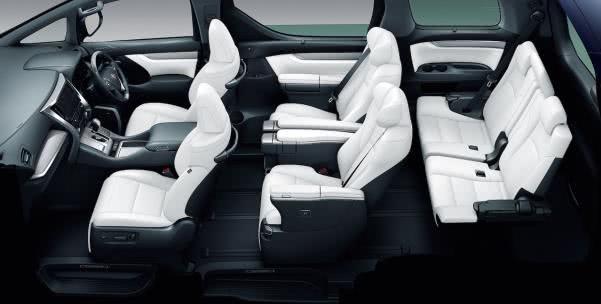 Toyota Alphard 2018 facelift cabin