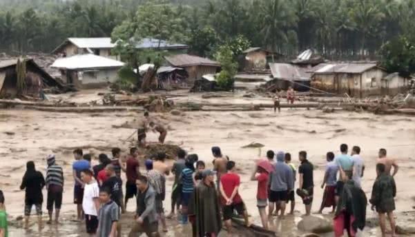 Mindanao city after typhoon Vinta