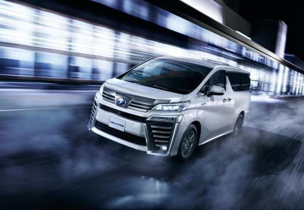 Toyota Vellfire 2018 facelift angular front