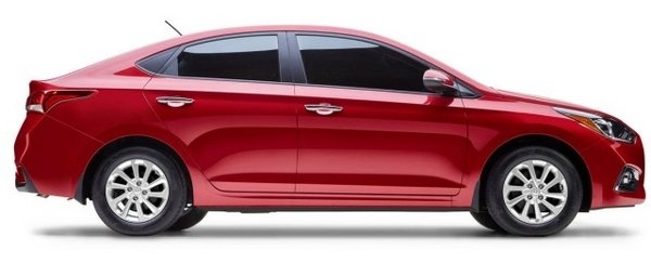 Hyundai Elantra 2018 side view