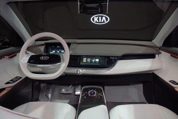 Dashboard of Kia Niro EV Concept at 2018 CES