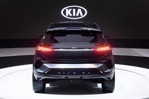 Rear of Kia Niro EV Concept at 2018 CES
