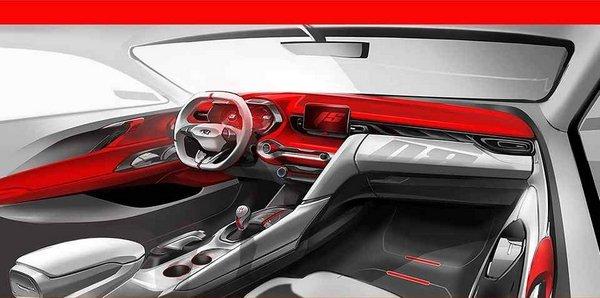 Hyundai Veloster 2019 interior rendering
