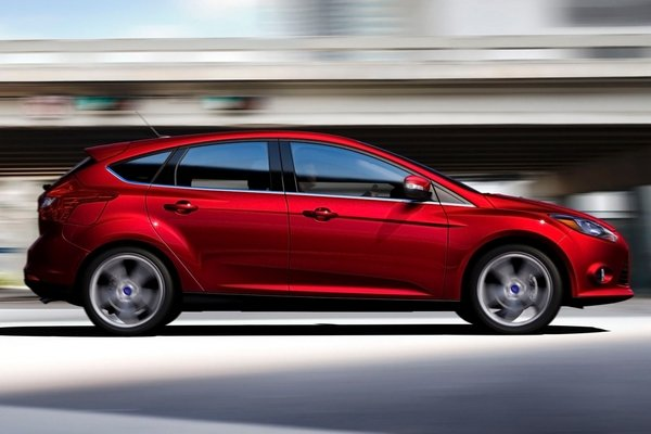 Ford Focus 2018 on the road