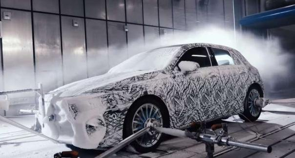 the angular front Mercedes-Benz A Class 2018