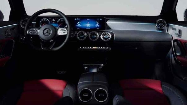 the interior of the Mercedes-Benz A Class 2018