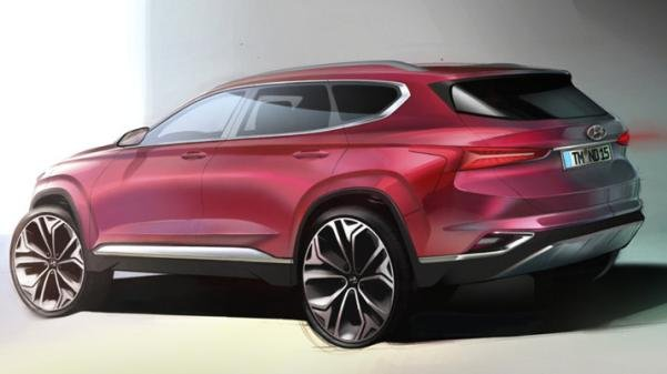 Hyundai Santa Fe 2019 sketch rear end