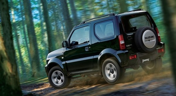 Suzuki Jimny 2017 on the road