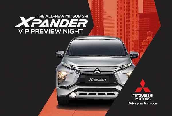 Mitsubishi Expander 2018 VIP Preview night poster
