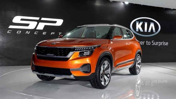 Kia SP Concept crossover angular front