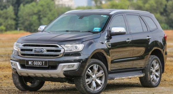 Ford Everest 2018 angular front
