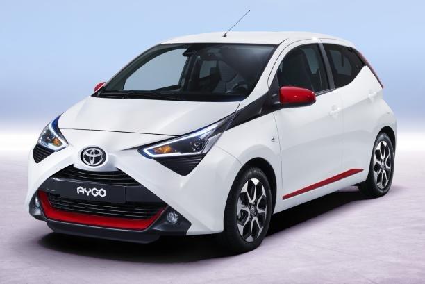 Toyota Aygo 2018 facelift angular front