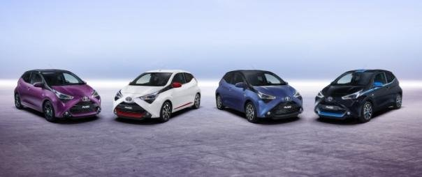 4 models of the Toyota Aygo 2018 facelift