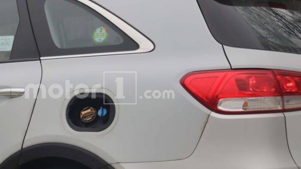 the fuel cap of Kia Sorento 2018