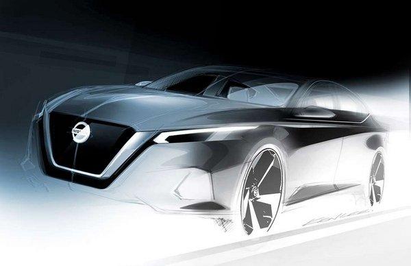 Nissan Altima 2018 design sketch