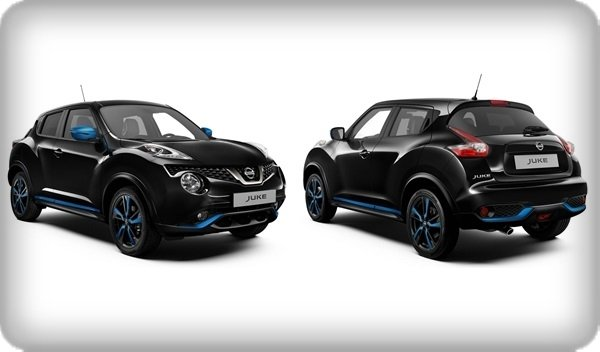 Nissan Juke 2018 facelift angular front and rear