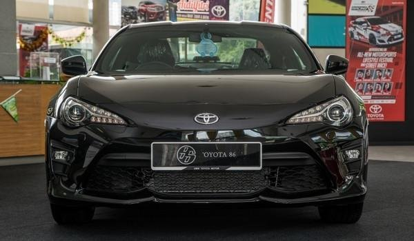 Toyota 86 2018 facelift in Malaysia front view