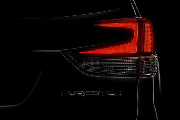 Subaru Forester 2019 taillight teaser shot