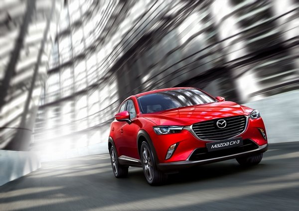 mazda cx3 2018 on the road