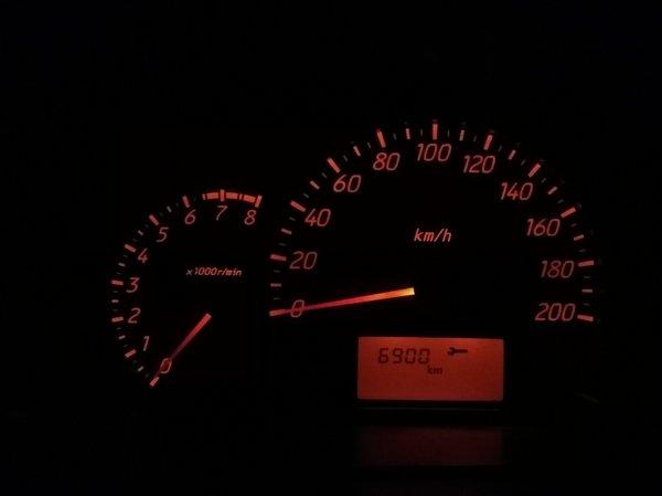Mitsubishi Mirage G4 GLS 2013 Amber illumination on instrument panel