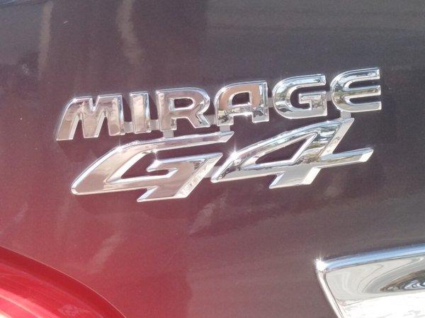 Mitsubishi Mirage G4 GLS 2013 model badge