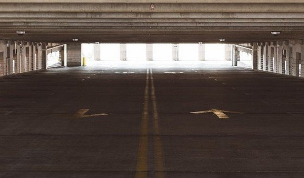way out in a parking lot