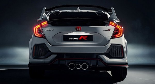 Honda Civic Type R 2018 rear view
