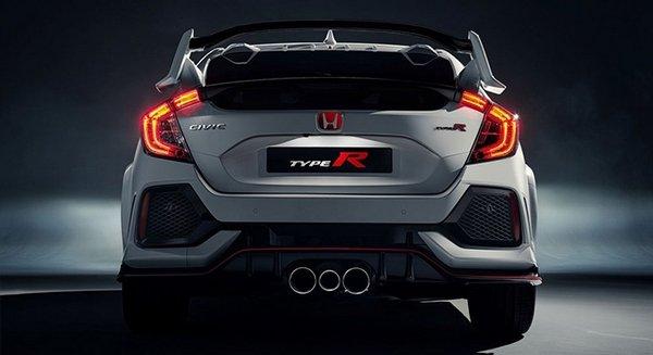 Honda Civic Type R 2018 rear view