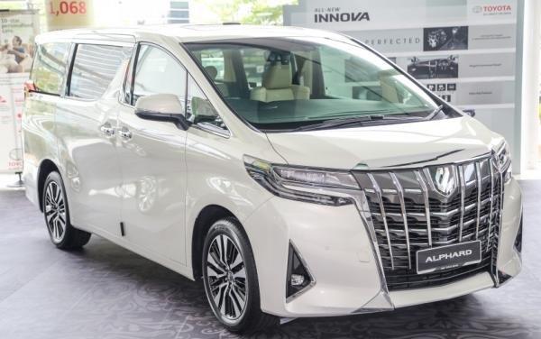 Toyota Alphard 2018 facelift angular front