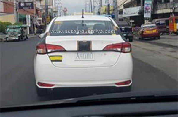 Toyota Vios 2018 spy shot rear view