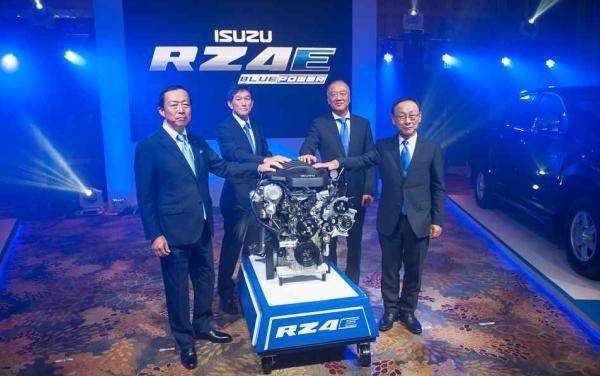 Isuzu 1.9 L turbo-diesel RZ4E engine launching event