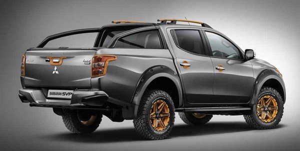 The rear view of the Mitsubishi Triton Barbarian edition