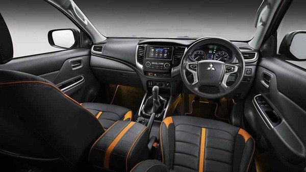 The interior of the Mitsubishi Triton Barbarian edition
