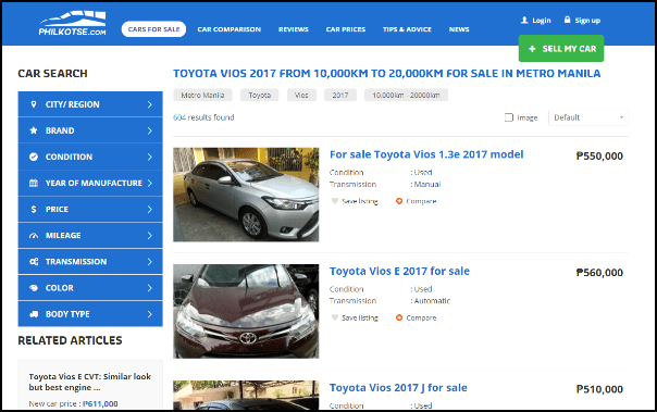 toyota vios 2017 for sale listings on philkotse.com