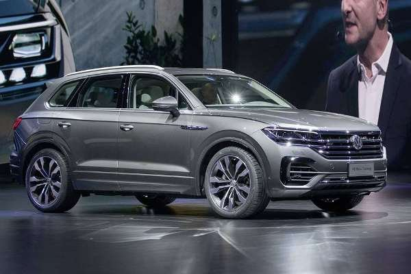 Volkswagen Touareg 2019 on display in China launch