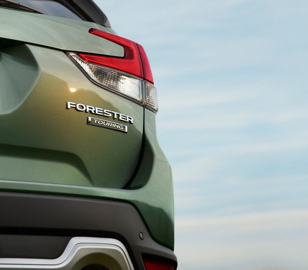 Subaru Forester 2019 teaser of the rear