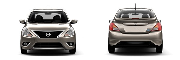 Nissan Almera 2018 front and rear view