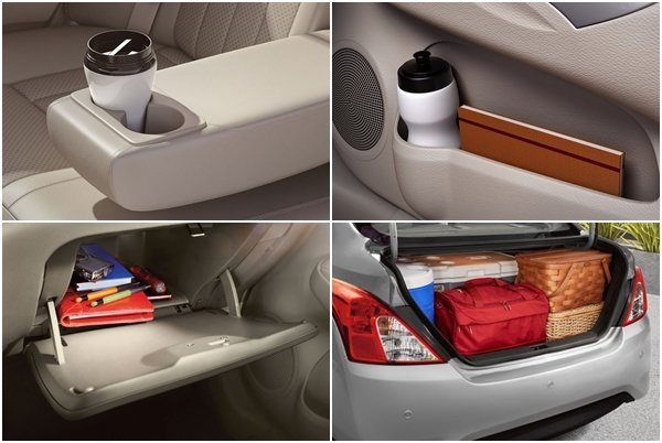 Nissan Almera 2018 storage space