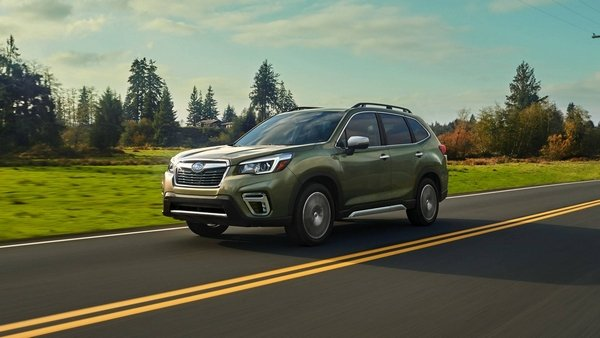 Subaru Forester 2019 on the road