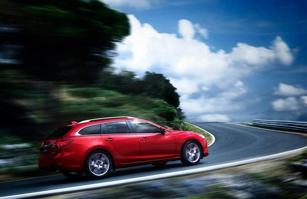 Mazda 6 wagon 2018 on the road