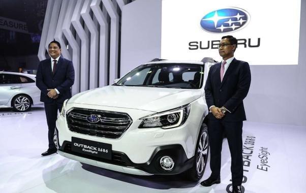Subaru Outback 2018 facelift angular front